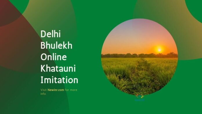 Delhi Bhulekh Online Khatauni Imitation